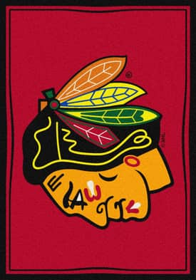 Milliken NHL Team Spirit Chicago Blackhawks Rug