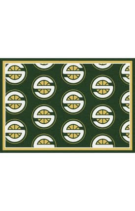 Milliken NBA Team Repeat Seattle Super Sonics Rug