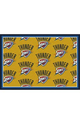 Milliken NBA Team Repeat Oklahoma City Thunder Rug