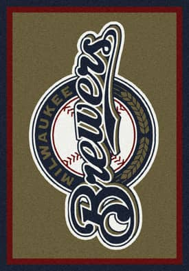 Milliken MLB Team Spirit Milwaukee Brewers Rug