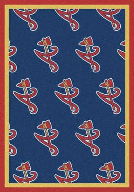 Milliken MLB Team Repeat Atlanta Braves Rug