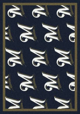 Milliken MLB Team Repeat Milwaukee Brewers Rug