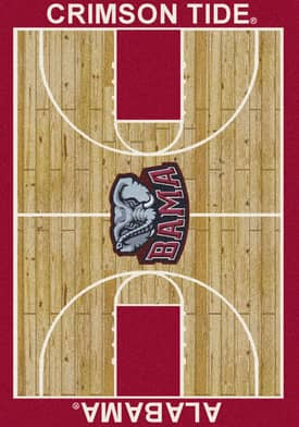 Milliken College Court Alabama Crimson Tide Rug