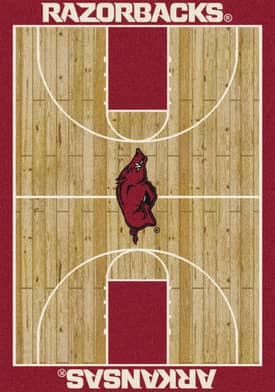 Milliken College Court Arkansas Razorbacks Rug