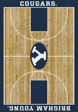 Milliken College Court Brigham Young Cougars Rug