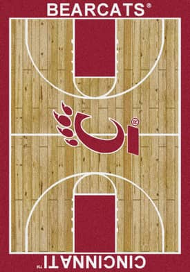 Milliken College Court Cincinnati Bearcats Rug