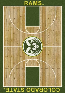 Milliken College Court Colorado State Rams Rug