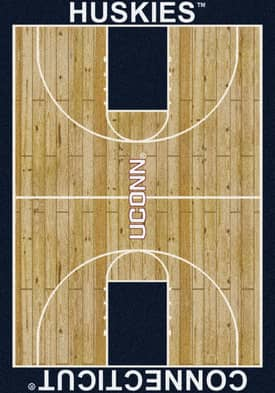 Milliken College Court Connecticut Huskies Rug