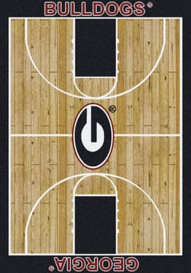 Milliken College Court Georgia Bulldogs Rug