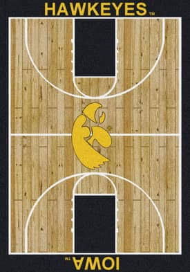 Milliken College Court Iowa Hawkeyes Rug