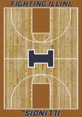 Milliken College Court Illinois Fighting Illini Rug