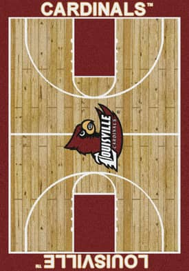 Milliken College Court Louisville Cardinals Rug