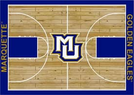 Milliken College Court Marquette Golden Eagles Rug