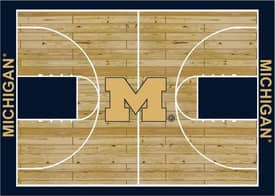 Milliken College Court Michigan Rug