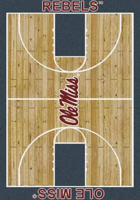 Milliken College Court Mississippi Ole Miss Rebels Rug