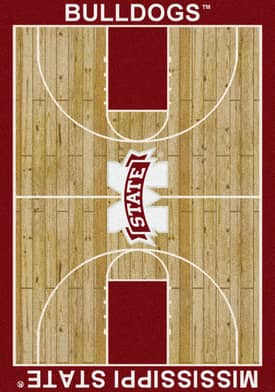 Milliken College Court Mississippi State Bulldogs Rug