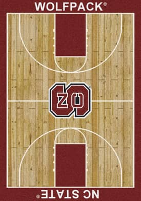 Milliken College Court NC State Wolfpack Rug