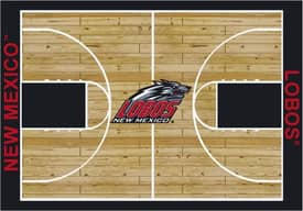 Milliken College Court New Mexico Lobos Rug