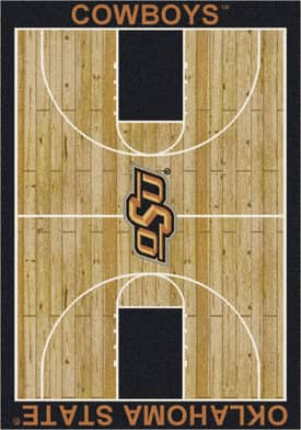 Milliken College Court Oklahoma State Cowboys Rug