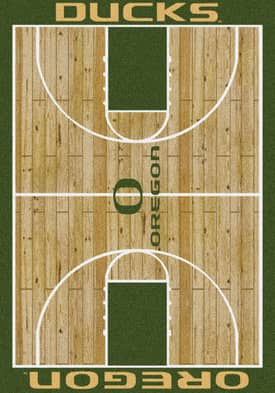 Milliken College Court Oregon Ducks Rug