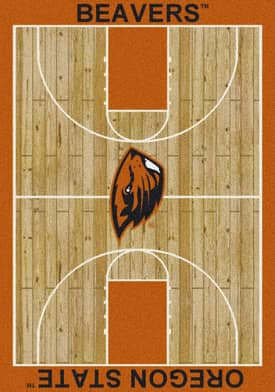 Milliken College Court Oregon State Beavers Rug
