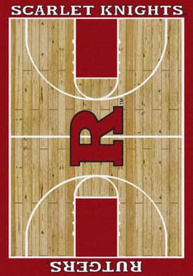 Milliken College Court Rutgers Scarlet Knights Rug