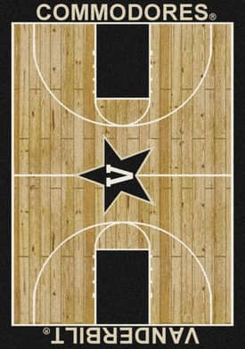 Milliken College Court Vanderbilt Commodores Rug