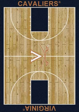 Milliken College Court Virginia Cavaliers Rug