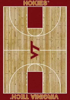 Milliken College Court Virginia Tech Hokies Rug