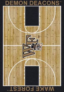 Milliken College Court Wake Forest Demon Deacons Rug