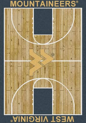 Milliken College Court West Virginia Mountaineers Rug