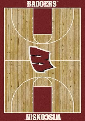 Milliken College Court Wisconsin Badgers Rug