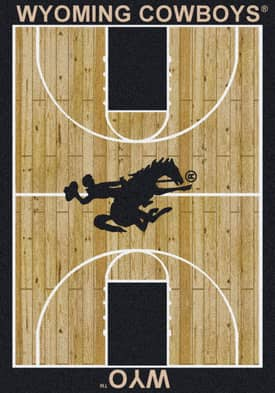 Milliken College Court Wyoming Cowboys Rug