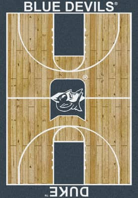Milliken College Court Duke Blue Devils Rug