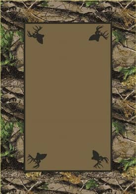 Milliken Realtree Hardwoods Solid Center Rug