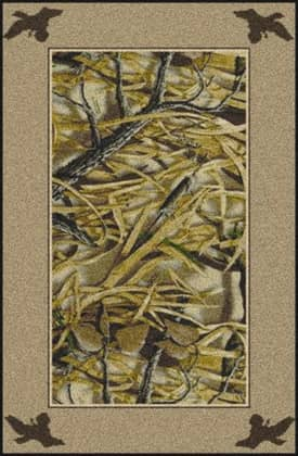Milliken Realtree Wetlands Solid Border Rug
