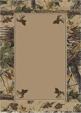 Milliken Realtree Xtra Brown Solid Center Rug