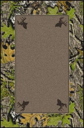Milliken Mossy Oak™ Camo Obsession Center with Deer Heads Rug