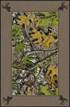 Milliken Mossy Oak™ Camo Obsession Border with Deer Heads Rug