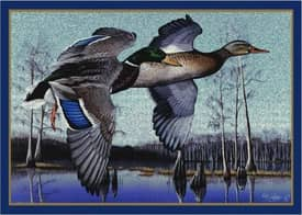 Milliken Wildlife Impression Eddie LeRoy Flying Mallards Rug
