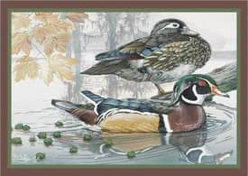 Milliken Wildlife Impression Eddie LeRoy Wood Ducks Rug