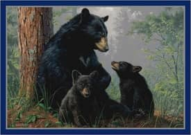 Milliken Wildlife Impression Hautman Bear Family Rug