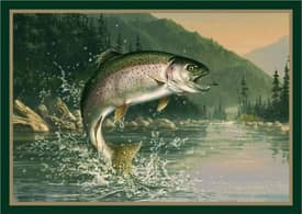 Milliken Wildlife Impression Hautman Rainbow Trout Rug