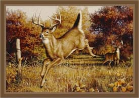 Milliken Wildlife Impression Hautman Leaping Deer Rug