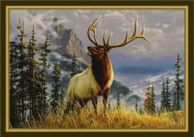 Milliken Wildlife Impression Hautman Mountain Elk Rug