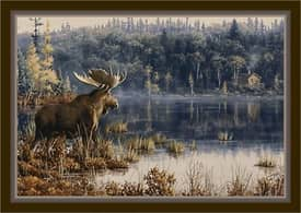 Milliken Wildlife Impression Hautman Lake Moose Rug