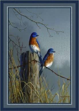 Milliken Wildlife Impression Hautman Blue Birds Rug