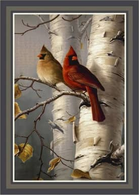 Milliken Wildlife Impression Hautman Cardinals & Birch Rug