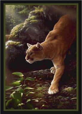 Milliken Wildlife Impression Hautman Focused Cougar Rug
