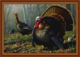Milliken Wildlife Impression Hautman Woodland Turkey Rug